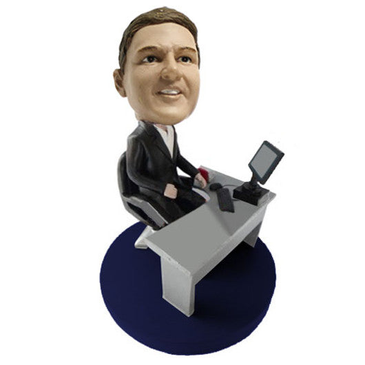 Businessman with Desk Bobble Head - BHS08