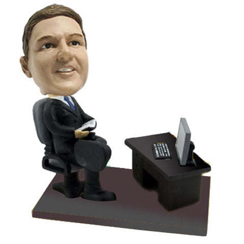 Businessman with Desk Bobble Head - BHS09