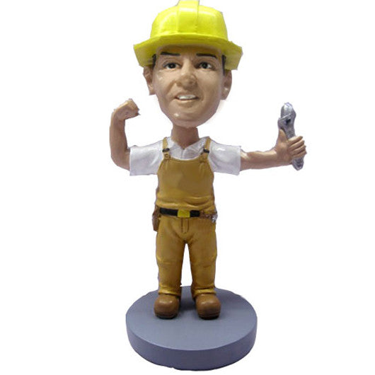 Construction Worker Bobble Head - BHS11