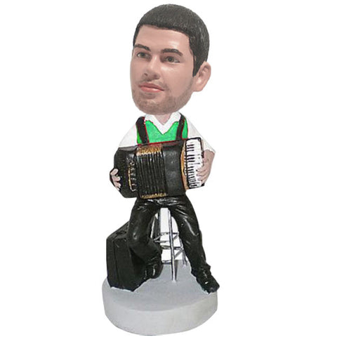 Accordion Player Bobble Head-BHS32