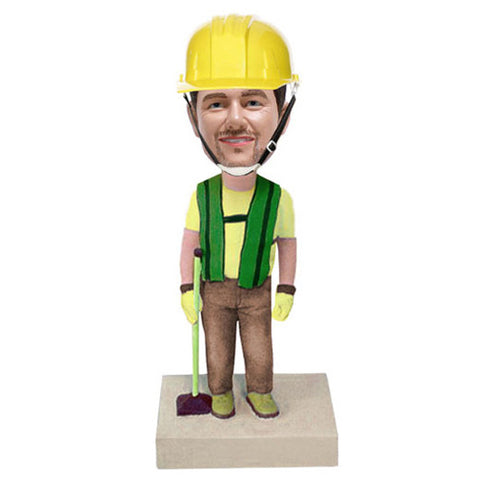Construction Worker Bobble Head - BHS47