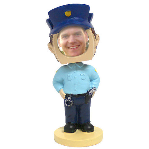 Policeman Picture Frame Bobblehead