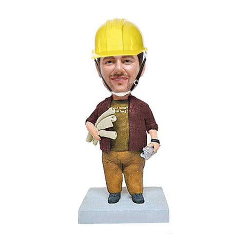 Construction Worker Bobble Head-BHS58