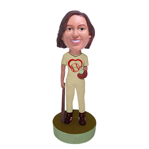 Softball Player Bobble Heads - BHS30