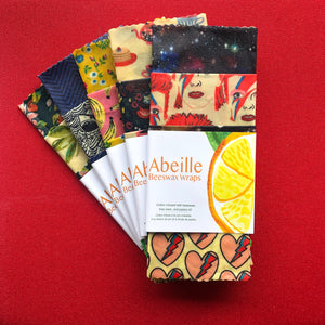 Introducing ...  Abeille Wraps! Reusable Beeswax Wraps Made in Canada with love