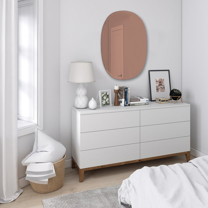 Hub Beveled Oval Mirror - Copper 24x36""