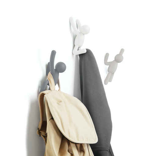 Buddy Wall Hooks - Grey/White/Taupe