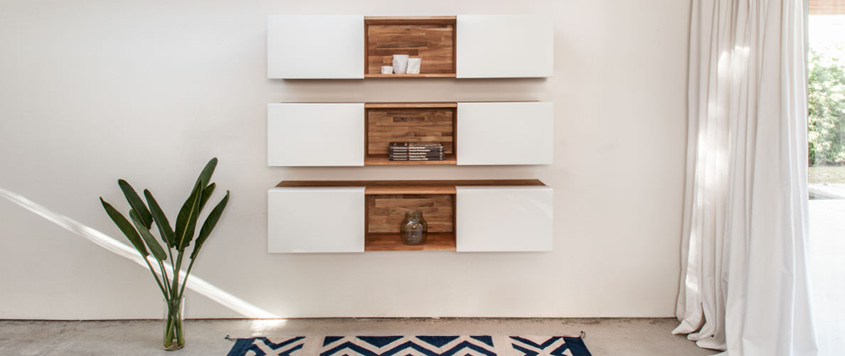 LAX Series - 3X Wall Mounted Shelf, White