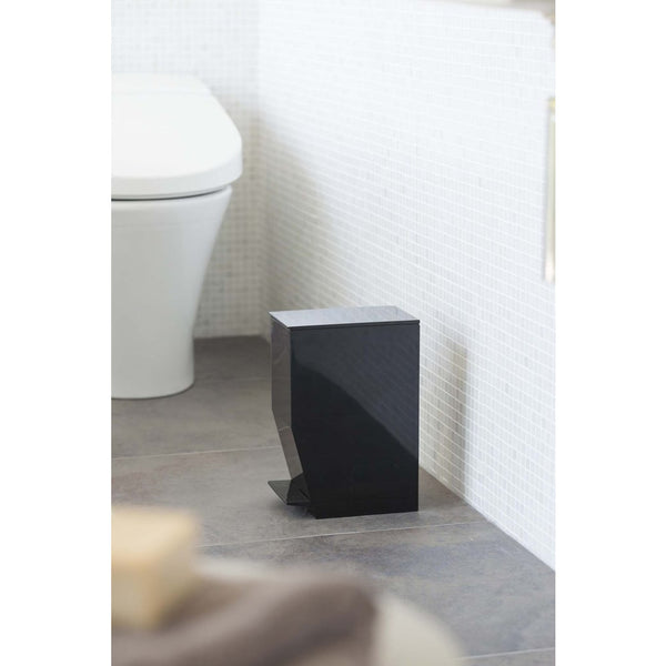 Tower Step Trash Can Black