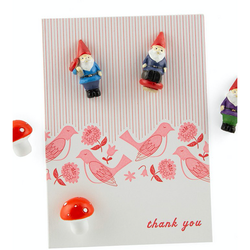 Polyresin Gnome Magnets, 5Pk