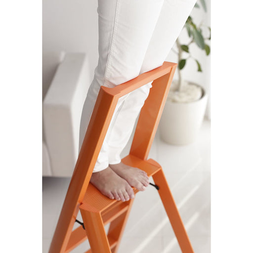 Lucano 4-Step Ladder, Orange
