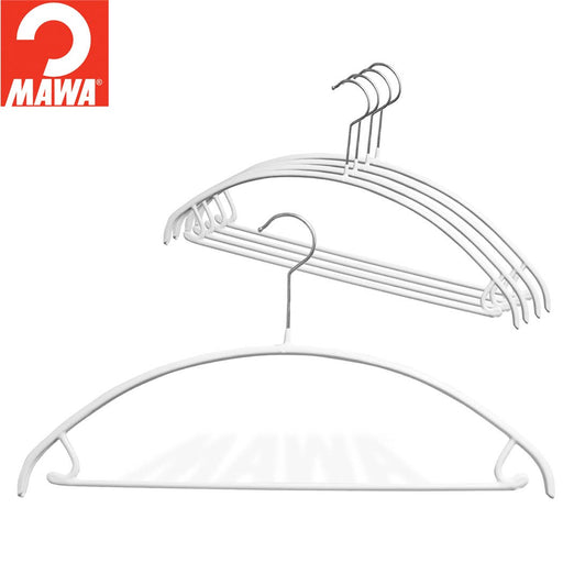 MAWA Euro Pant-Bar Hook Hanger, White 5/Pk