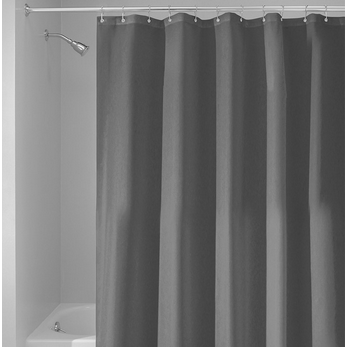 Fabric Shower Curtain, Charcoal