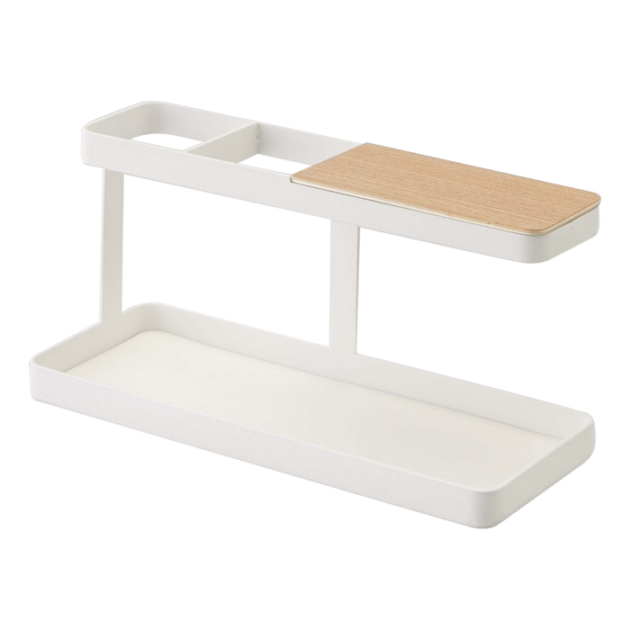 Tower Desk Accessory Bar, White