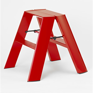 Lucano 2 Step Ladder Red - Neat Space