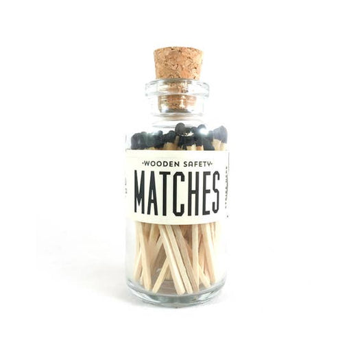 Black Vintage Apothecary Matches, Small