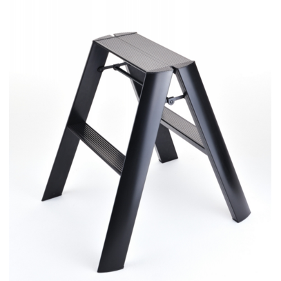Lucano 2 Step Ladder Black - Neat Space