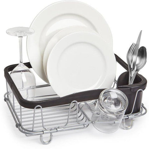 Sinkin Multi-Use Dish Rack, Black/Nickel