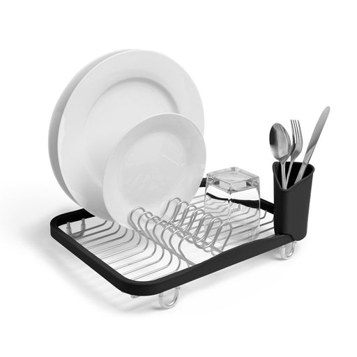 Sinkin Dish Rack, Nickel/Black