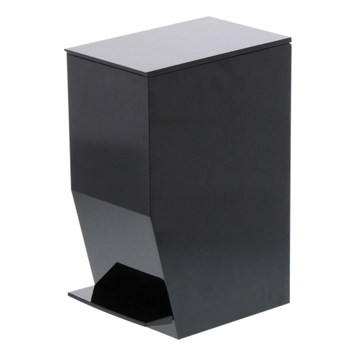 Tower Step Trash Can, Black