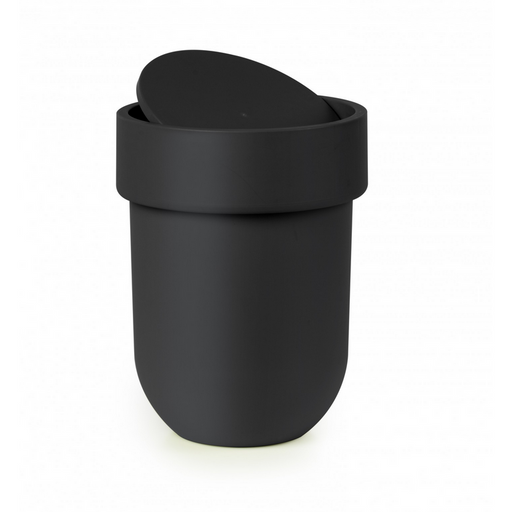Touch Waste Can with Lid, Black - Neat Space