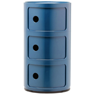 Kartell Componibili 3 Elements, Blue