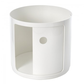 Kartell Componibili Round Large Element, White Matte