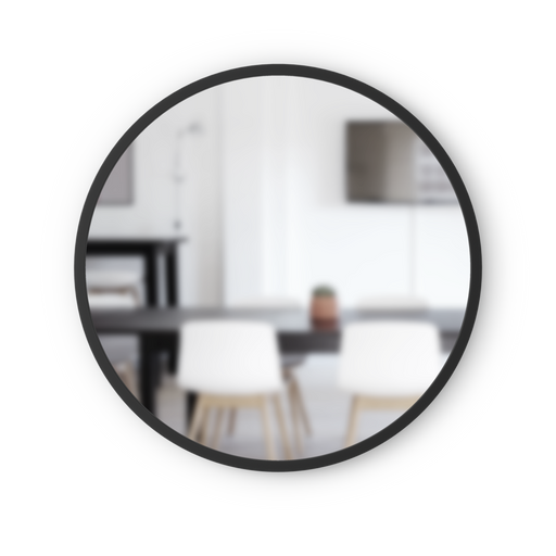 "Hub Round Wall Mirror 24"" - Black"