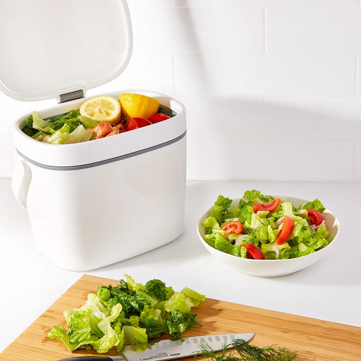 OXO Large Compost Bin, White - Neat Space