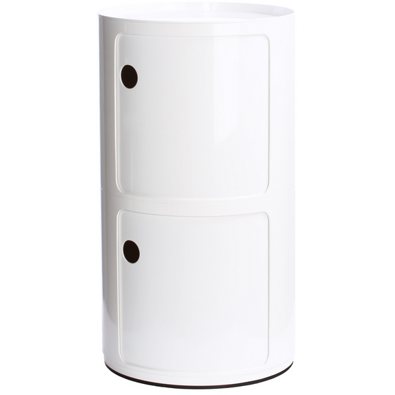Kartell Componibili Round Large Closure Lid Top, White Matte