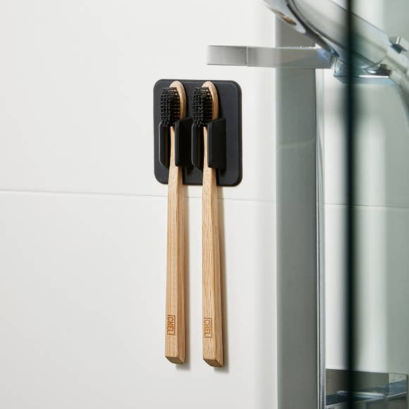 The George Toothbrush Tile, Charcoal - Neat Space