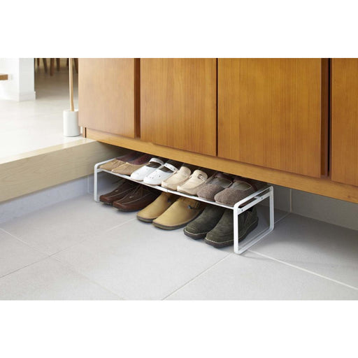 Frame Adjustable Shoe Rack - White