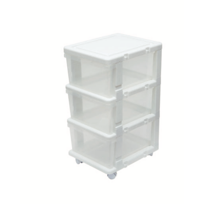 Link and Lock Expandable Drawer Unit 3 Tiers