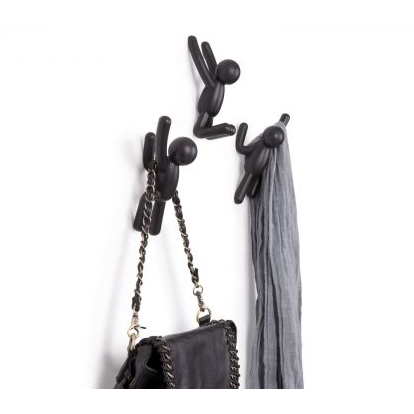 Buddy Wall Hooks, Black