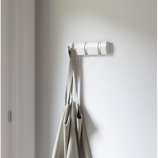 Flip 3 Wall Hook - White/Silver