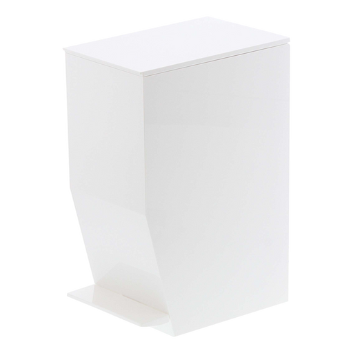Tower Step Trash Can, White