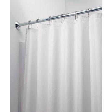 Fabric Shower Curtain, White - Neat Space