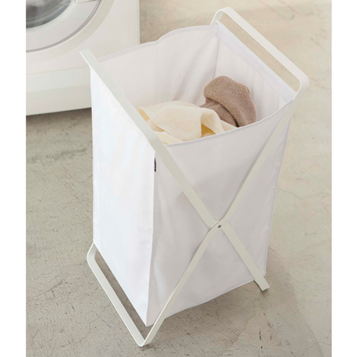 Tower Laundry Foldable Basket/Hamper, White - Neat Space