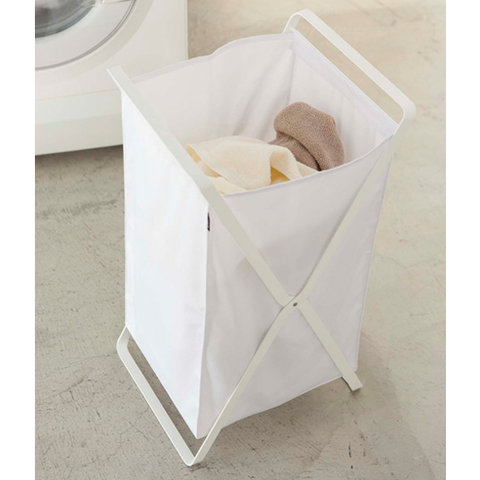Tower Laundry Basket, White