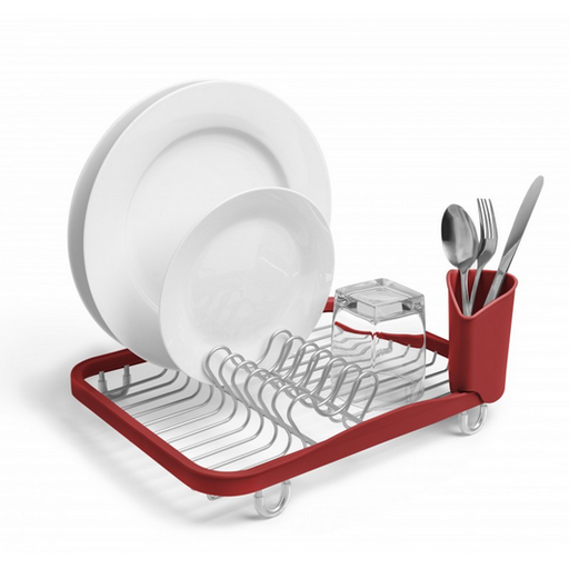 Sinkin Dish Rack, Red - Neat Space