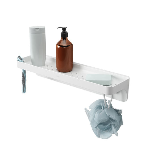 Flex Sure-Lock Bathroom Shelf, White
