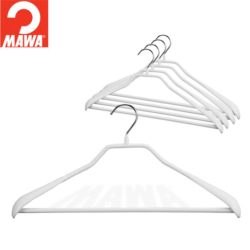 MAWA BodyForm 42-LS Pant-Bar Hanger, White 5/Pk