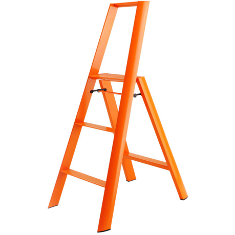 Lucano 3-Step Ladder, Orange