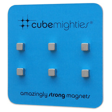 Cube Mighties Magnets Chrome 6 Pack