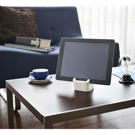 Square Tablet Stand, White - Neat Space