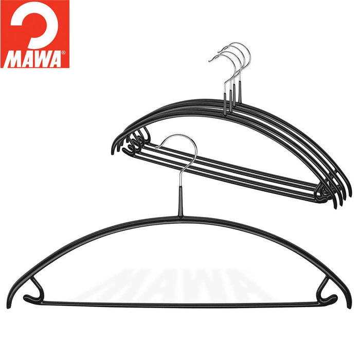 MAWA Euro Pant-Bar Hook Hanger, Black 5/Pk