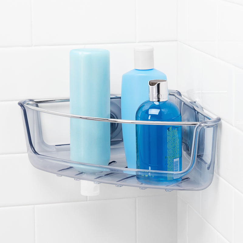 OXO StrongHold Corner Suction Shower Basket