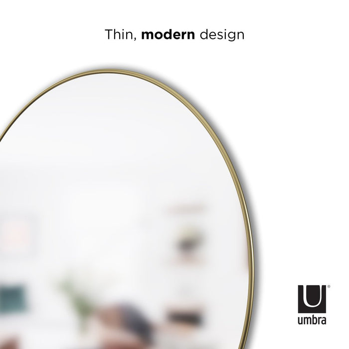 "Hubba Wall Mirror, 34"" - Brass - Neat Space"