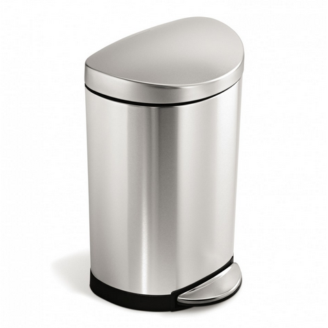 Simplehuman Semi-Round Step Can 10L, Brushed Steel - Neat Space