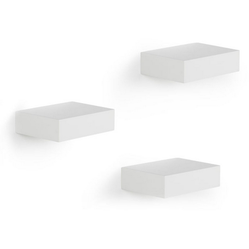 Showcase Shelves, White, Three Pack